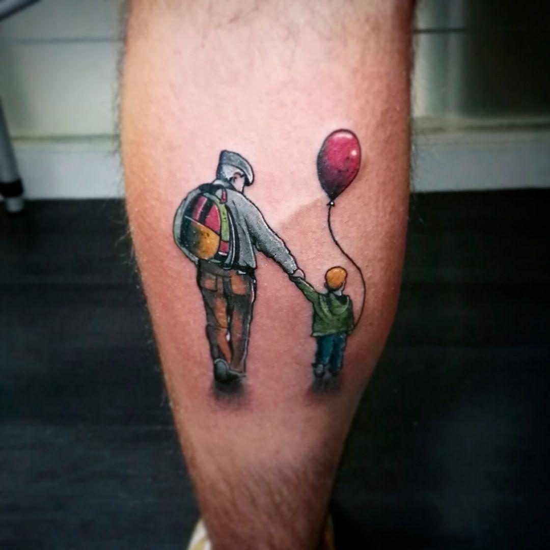 Pierna Tatuaje Por Encargo Abuelo Y Nieto Vene 430 Ink Sweet Tattos
