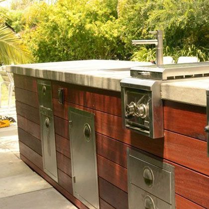 Wood Siding On Outdoor Kitchen Outdoor Kitchen Home Remodeling Pool Houses