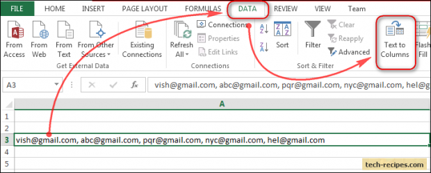 With @Excel, you can split one #cell into multiple #rows or