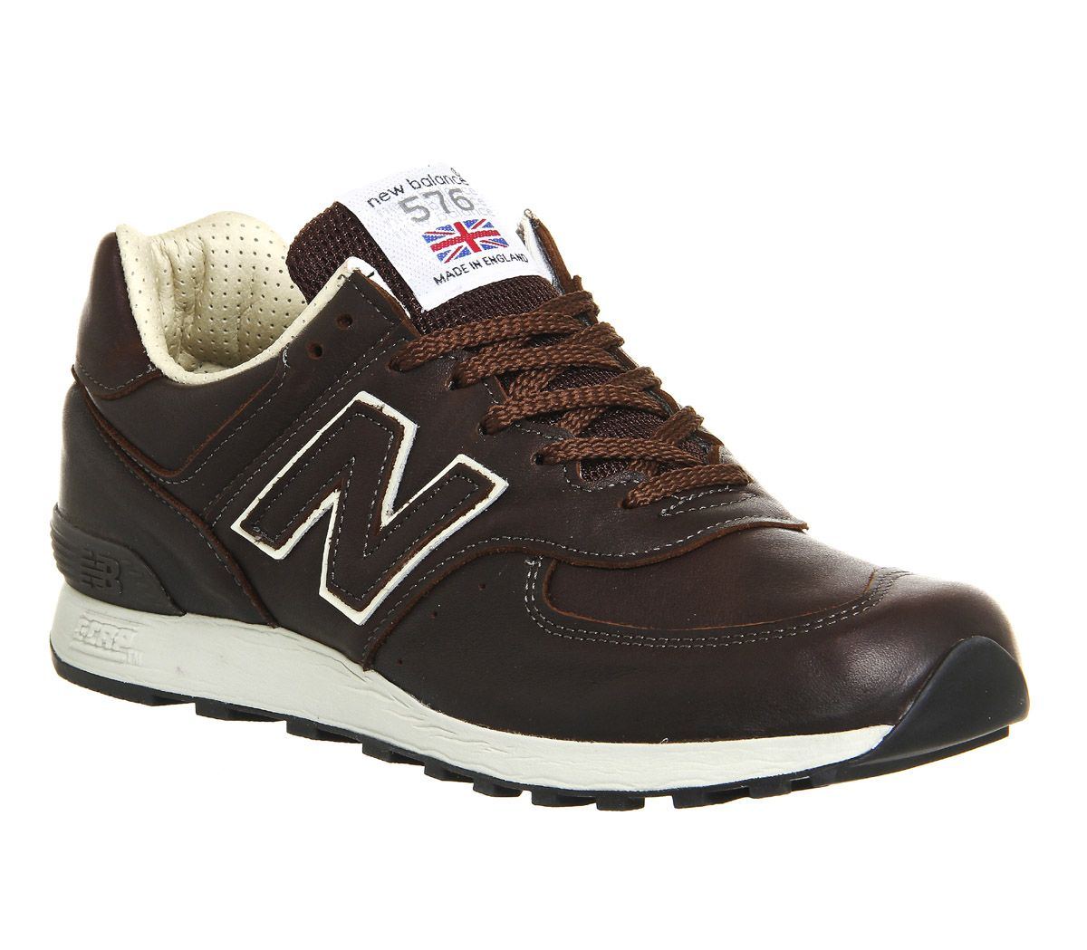 New Balance, 576 Trainers, Brown Leather