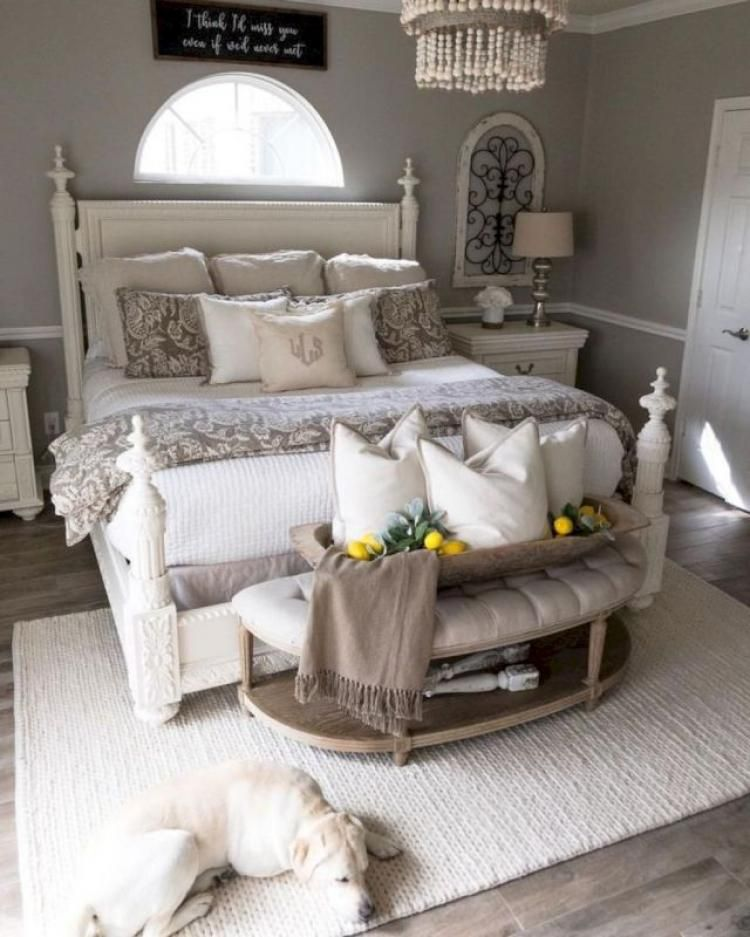 Admirable Farmhouse Master Bedroom Decorating Ideas Shabby Chic Master Bedroom Home Decor Bedroom Remodel Bedroom