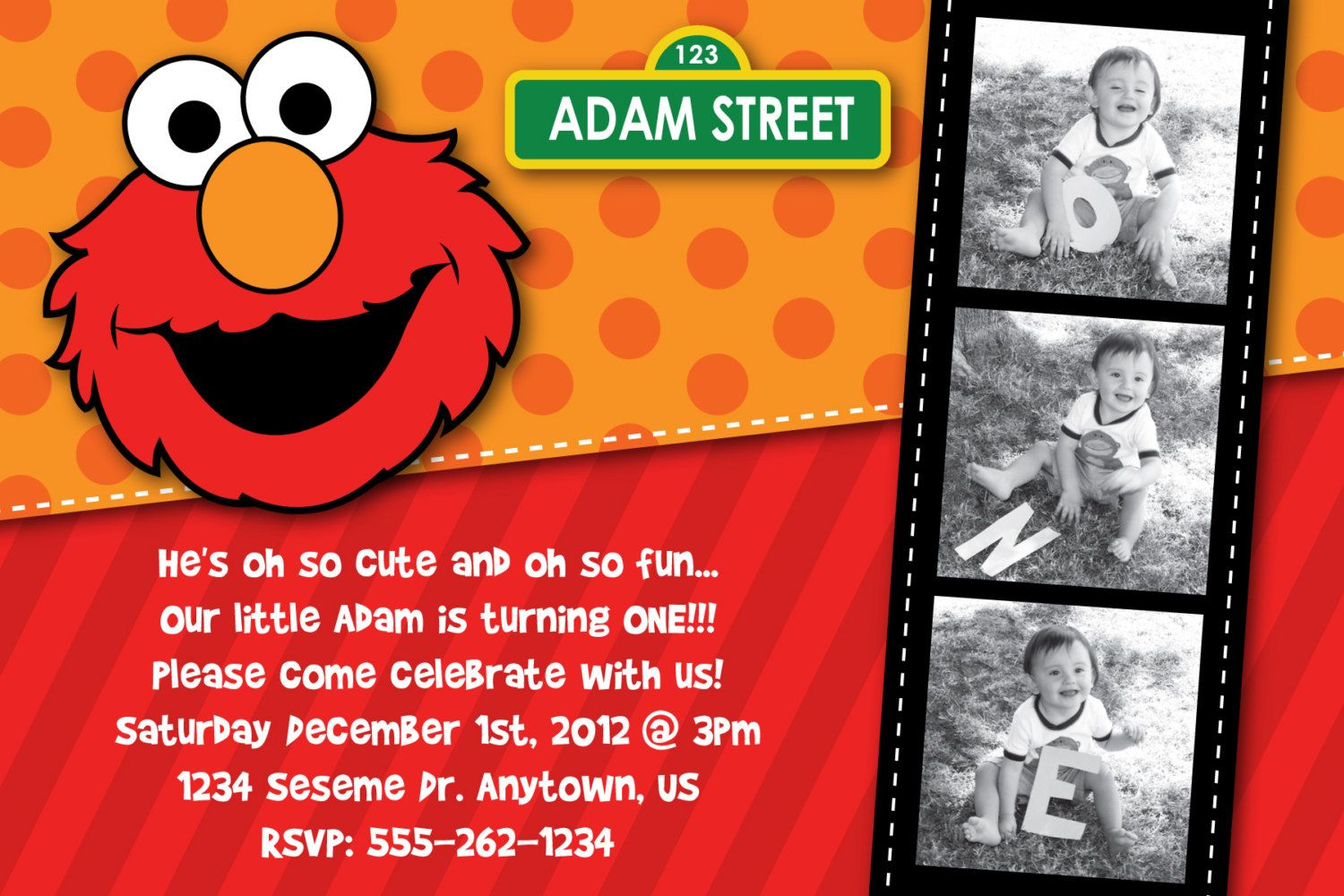 Download Now FREE Template Sesame Street Birthday Party Invitations