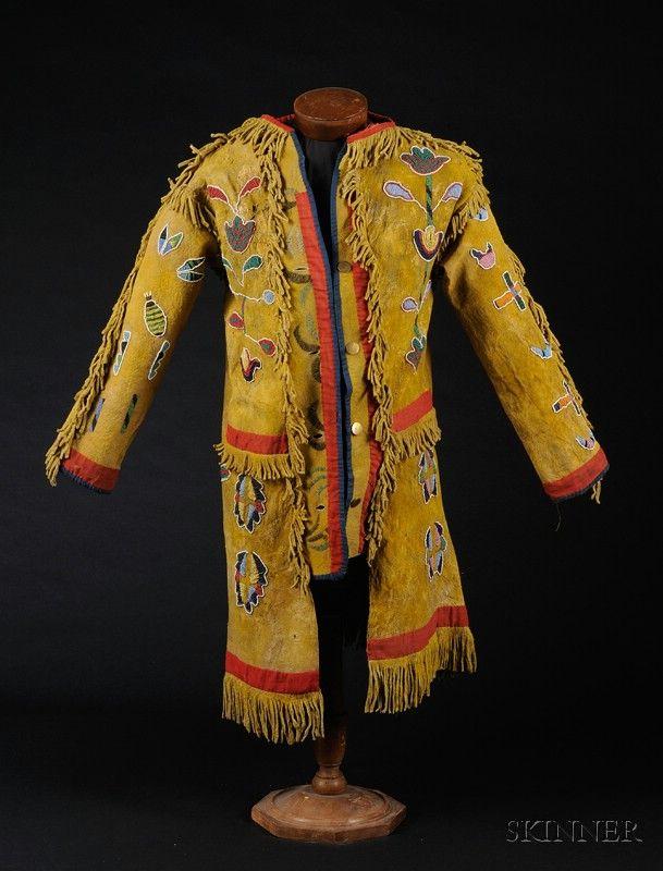 "Plains Beaded Hide ""Horse Doctor"" Coat   Sale Number 2442, Lot Number 189   Skinner Auctioneers"