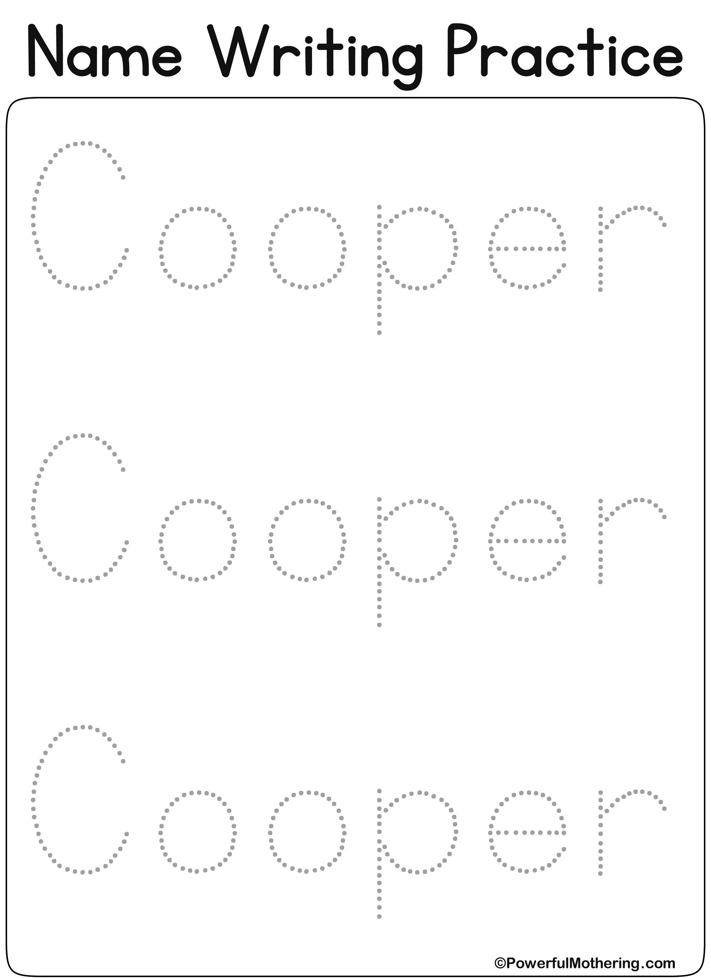 Free Name Tracing Worksheets Pictures