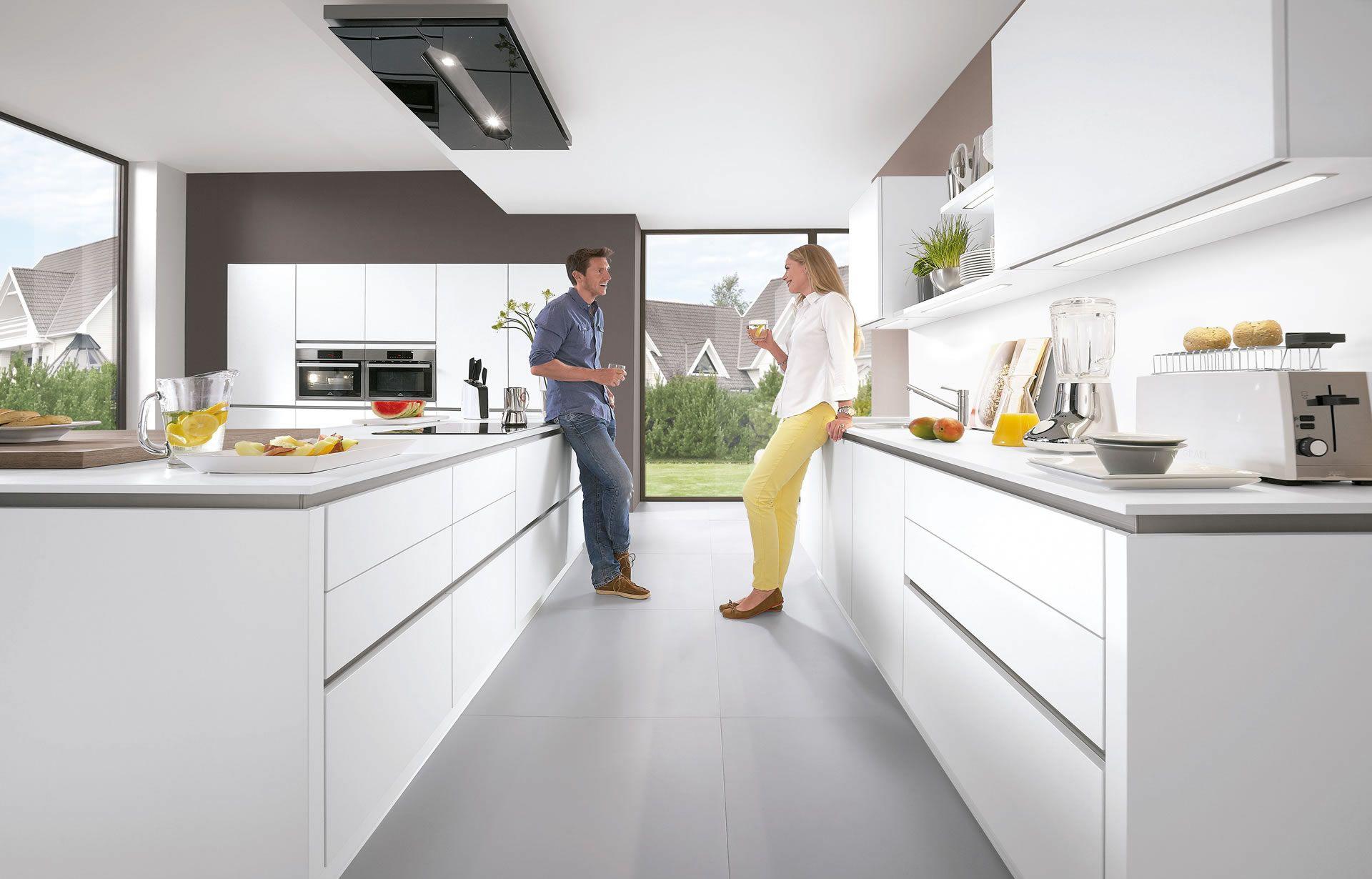 White apron homebase - Nobilia Laser Premium White 411