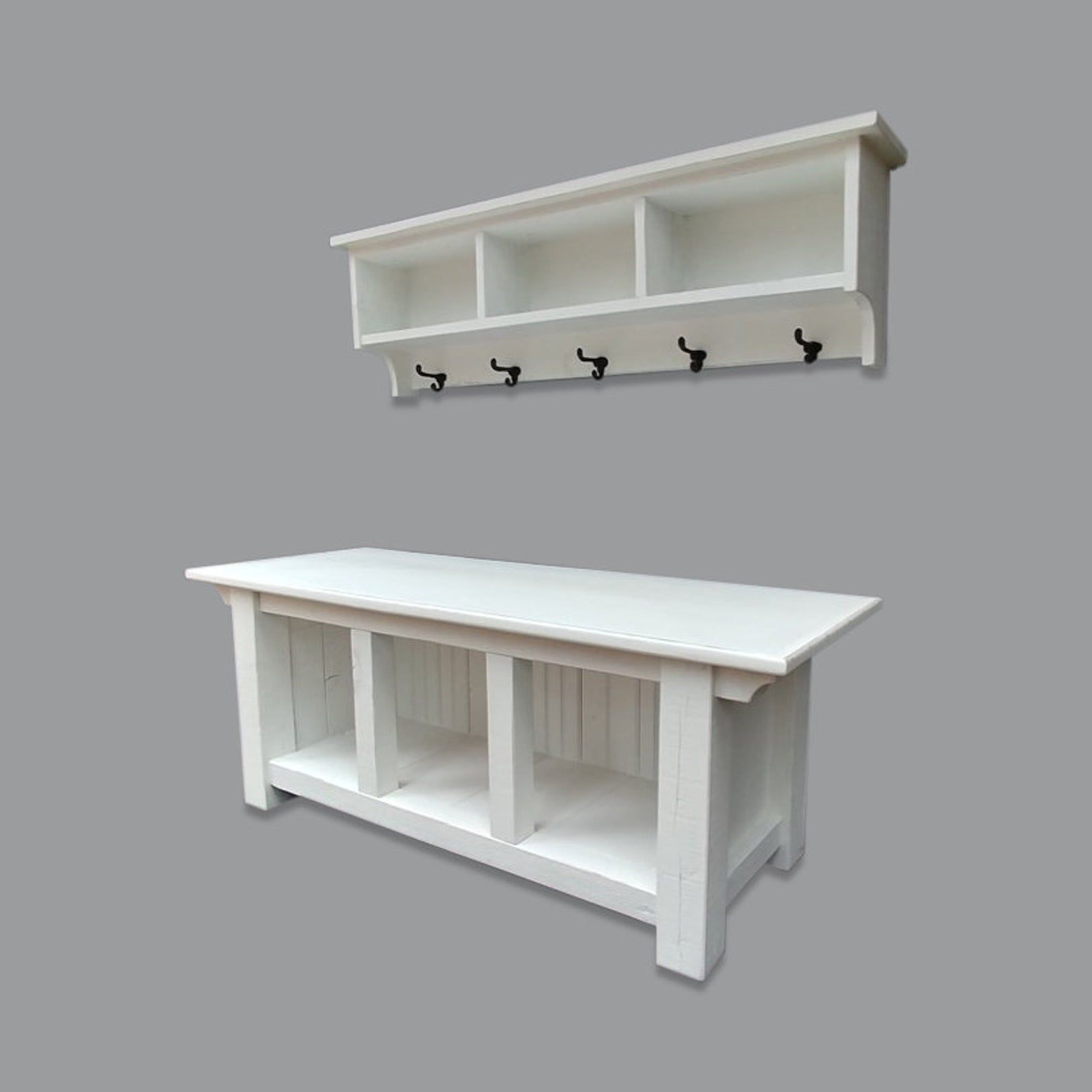 Farmhouse Cubby Storage Bench And Shelf Cubby Coat Rack Set White In 2020 Cubby Storage Bench Storage Bench Cubby Storage