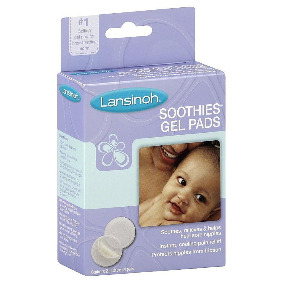 Lansinoh Soothies Gel Nursing Pads Set Of 2 Purple White