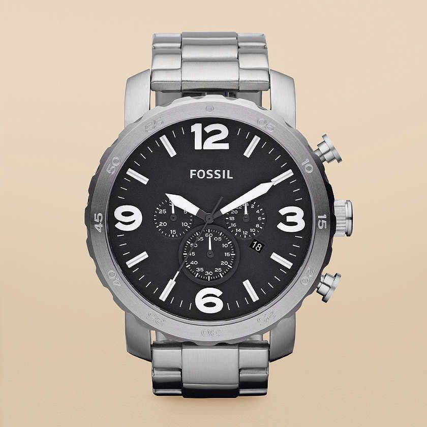 FOSSIL® : Nate Stainless Steel Watch JR1353
