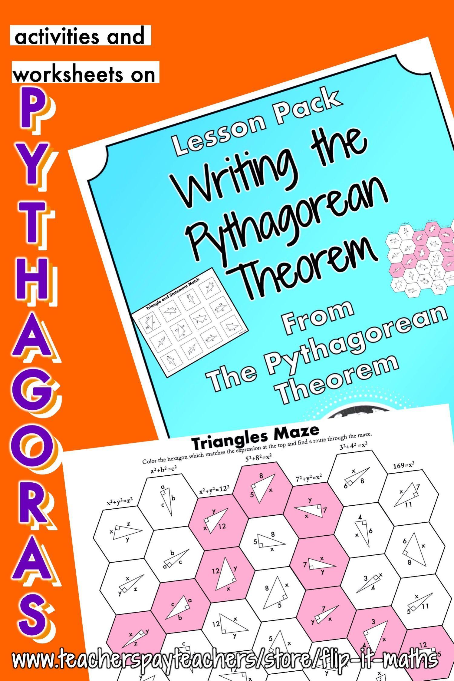 Writing The Pythagorean Theorem