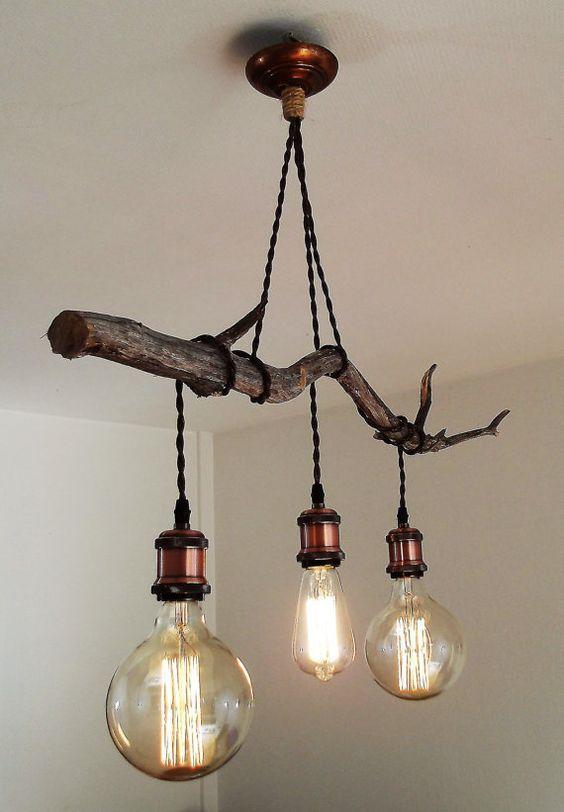 Handmade chandelier wood pinterest iluminacin luces y ideas para handmade chandelier aloadofball Gallery