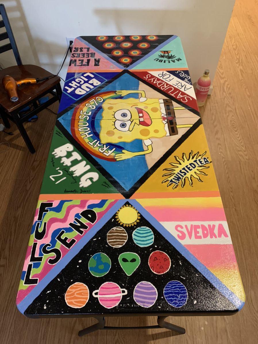 Beer Pong Table Custom Beer Pong Tables Beer Pong Table Painted Diy Beer Pong Table