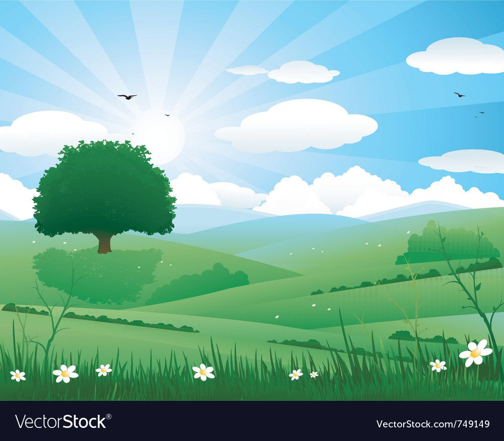 Nature Landscape Royalty Free Vector Image Vectorstock Aff Royalty Landscape Nature Free Ad In 2020 Vector Background Free Vector Images Vector Free