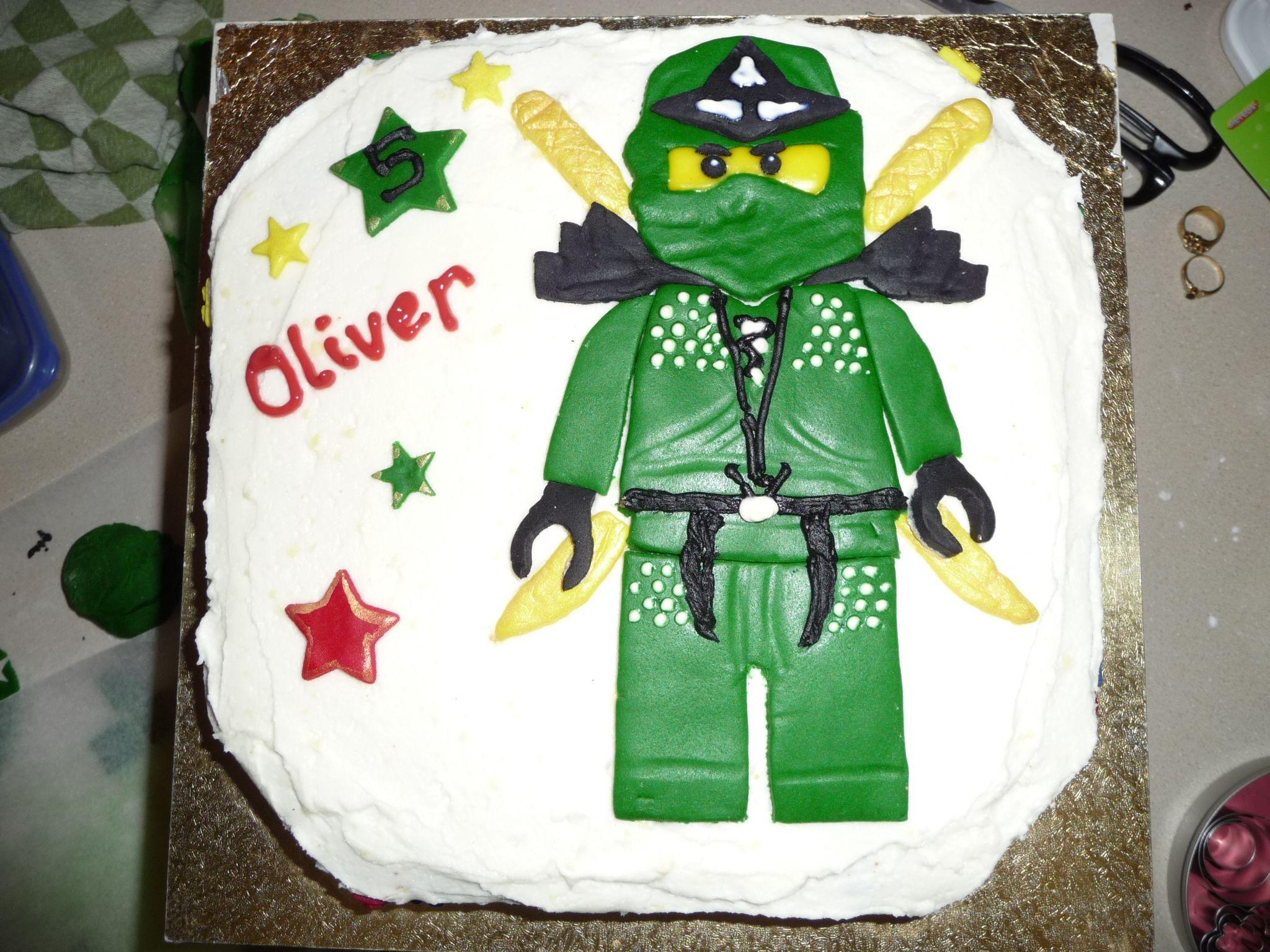Green Ninja Ninjago Cake Ninja Birthday Cake Ninja Birthday