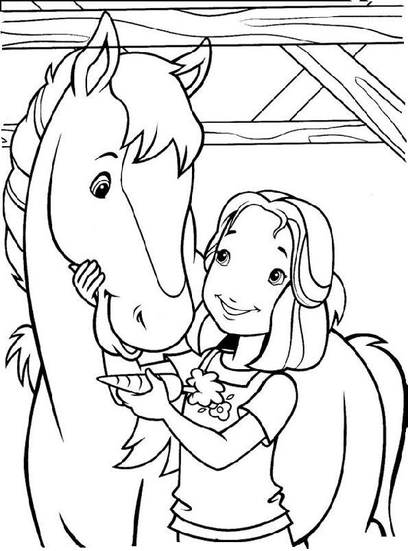 Pferde und Mädchen malvorlagen | ausmalbilder | Coloring pages