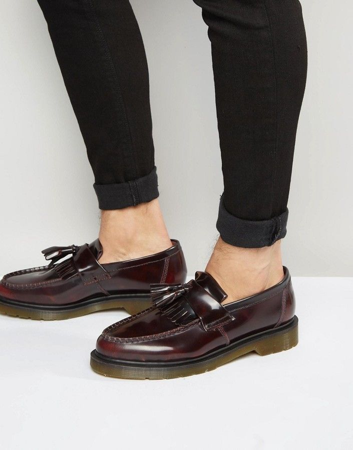 Dr. Martens Adrian Tassel Loafers In Burgundy | Formal shoes
