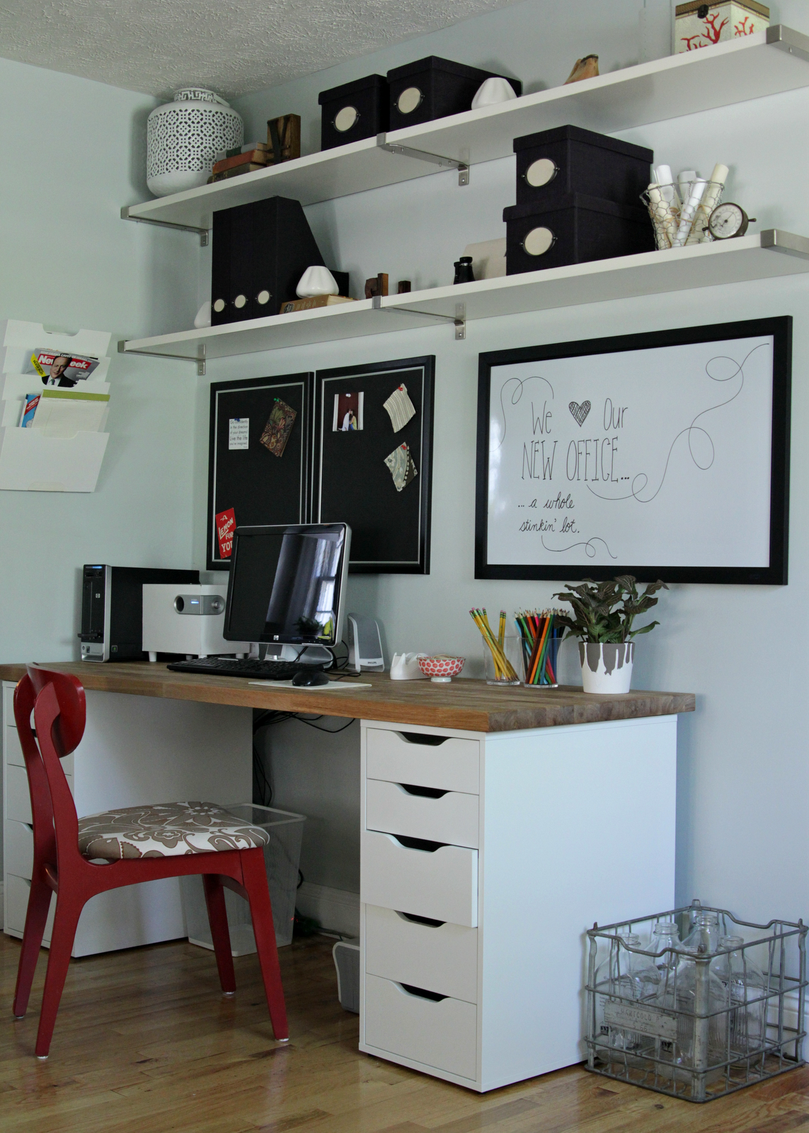 Simple Ikea Office Makeover Home Office Decor Home Office Furniture Ikea Home Office