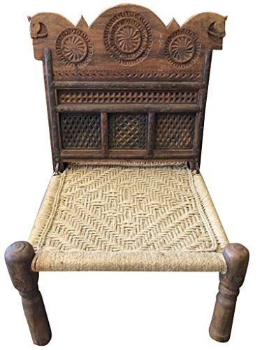 Indian Rope Chairs Rajasthani Antique Vintage Chairs Wood Carving Horse  Head Design Chair Mogul Interior Http://www.amazon.com/dp/B00QGHX5VW/refu003d  ...