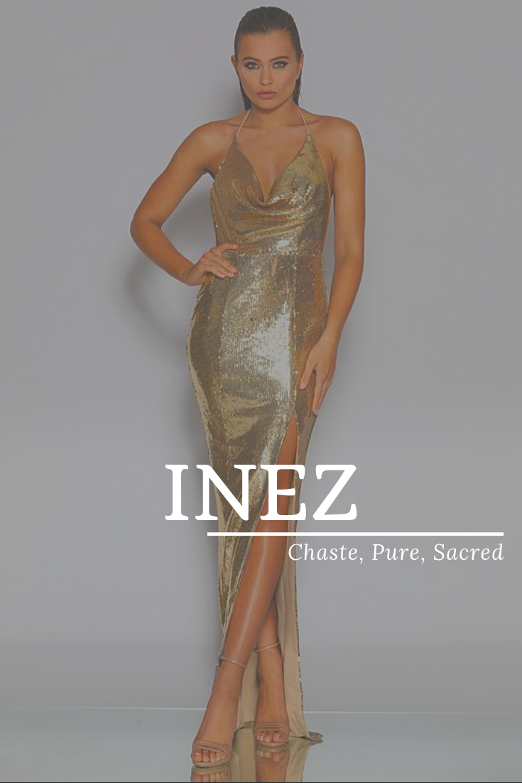 Inez, meaning Chaste, Pure, Sacred, modern names, popular