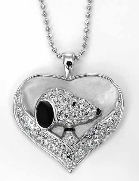 Snoopy's Heart crystal pendant from CrystalWorld.com PEANUTS © 2011 PEANUTS Worldwide LLC.