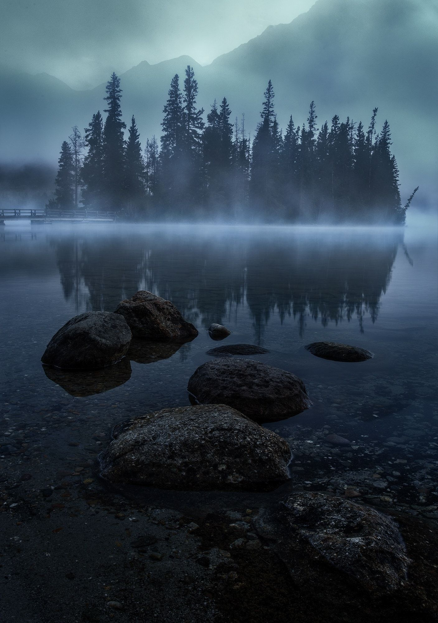 Misty Island Null Foggy Mountains Misty Mountain Photography