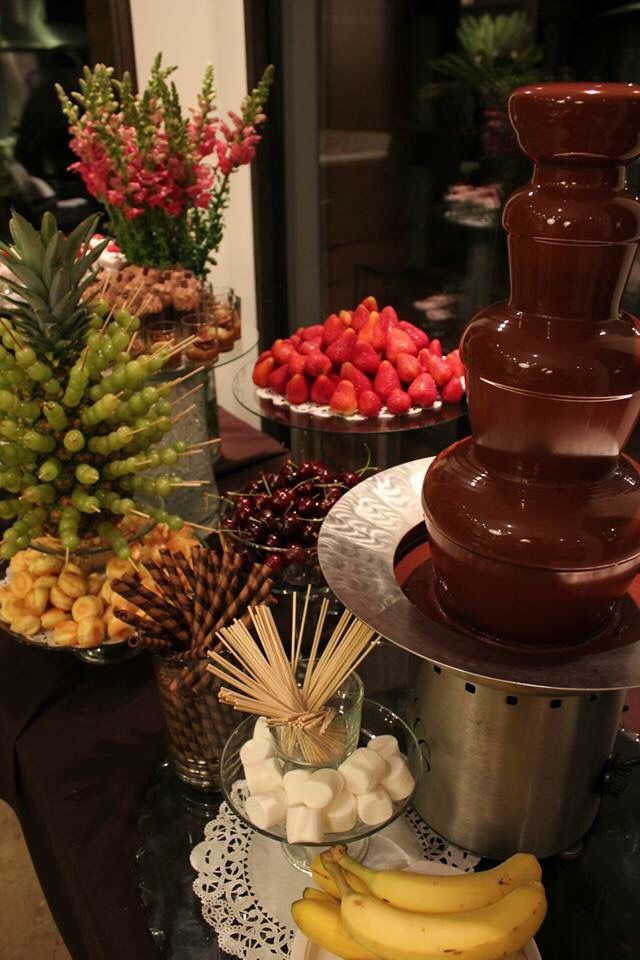 Chocolate Fountain #chocolatefountainfoods