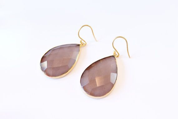 Smokey Purple Quartz Earrings by Rachael Ryen