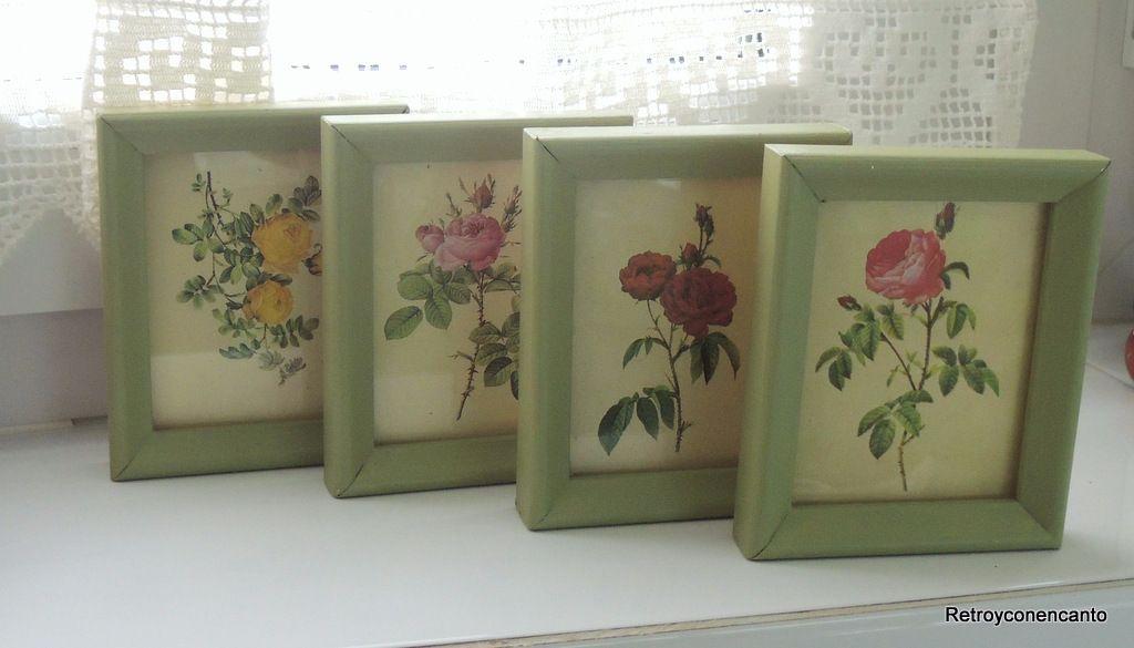 Retro y con encanto: Cuadritos flores | CUADROS, MARCOS Y PORTA ...