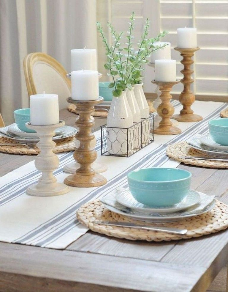 50 Beautiful And Affordable Dining Room Decoration Ideas Nicolette New Rustic Dining Room Table Decor Modern Rustic Dining Table Farmhouse Dining Rooms Decor
