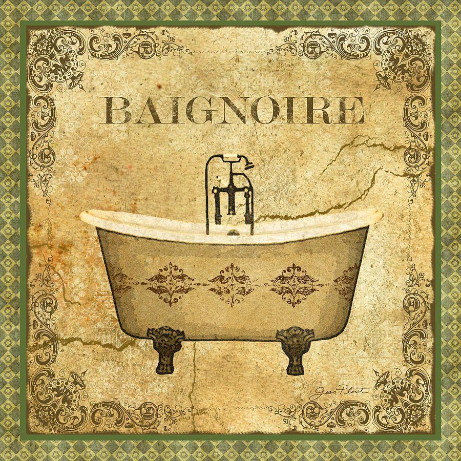 Vintage Baignoire Digital Art   decoupage patterns   Pinterest ...