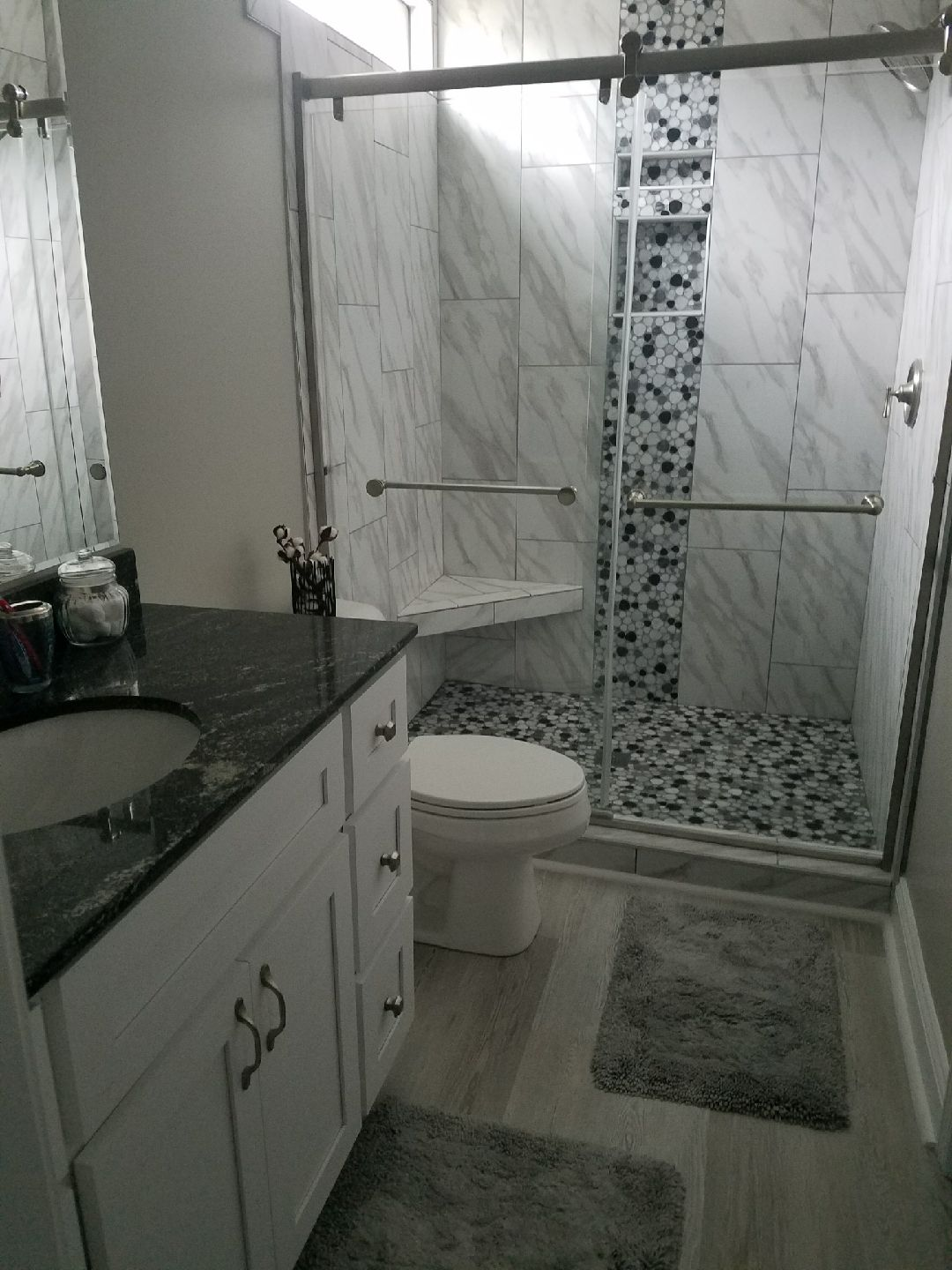 Our 5x10 Bathroom Felt So Cramped We Reinvented The Same Space And Now It Feels Much Big Small Bathroom Layout Elegant Bathroom Design Bathroom Layout Plans