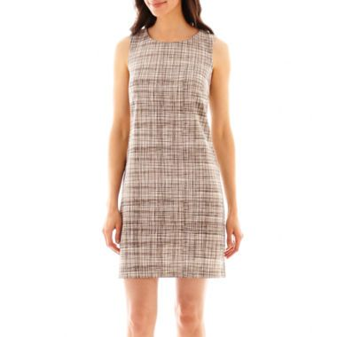 Worthington® Sleeveless Scratch Print Shift Dress  found at @JCPenney