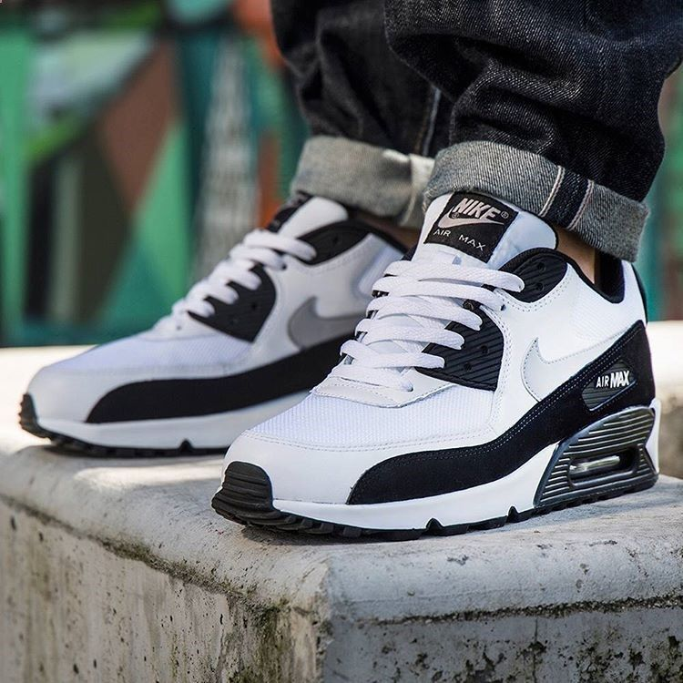 reputable site 8dd44 2d7a0 Iconic and versatile, the Nike Air Max 90 in White Wolf Grey Black. •   αυвяєуунαяяιѕ