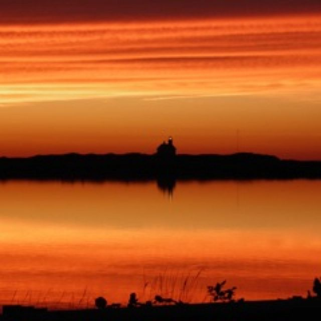 Block Island North Light at Sunset....