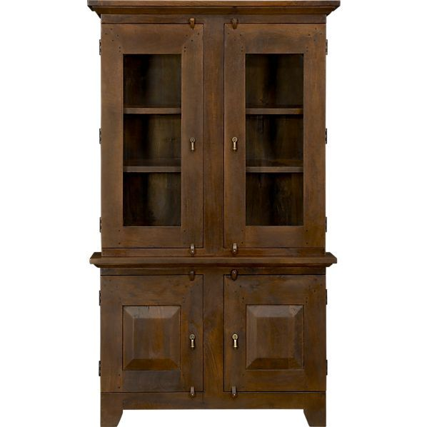 Basque Honey Small Buffet With Hutch Top In Dining Kitchen Storage
