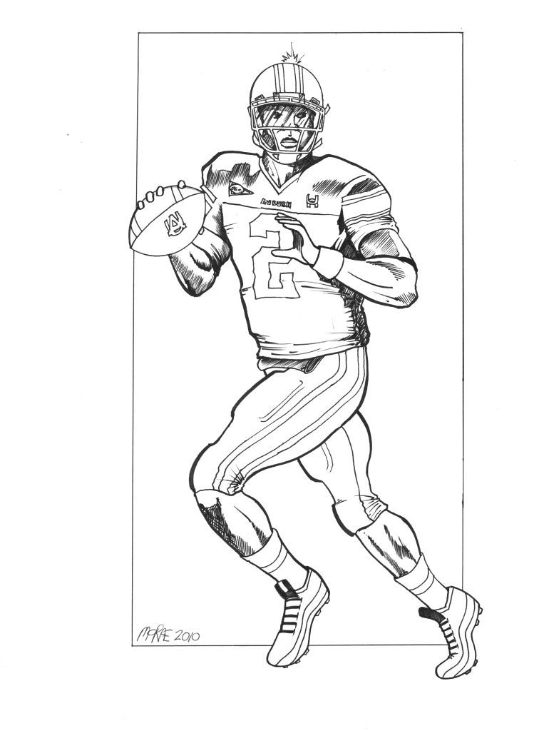 Tiger Football Coloring Pages. Cameron Jerrell  Cam Newton born May 11 1989 is an American