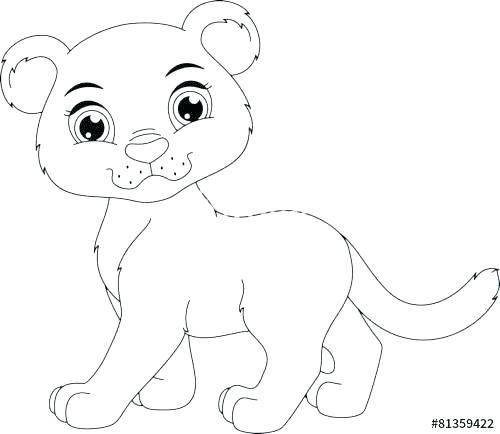 Panther Coloring Pages Panther Animal Coloring Pages Cute Panther