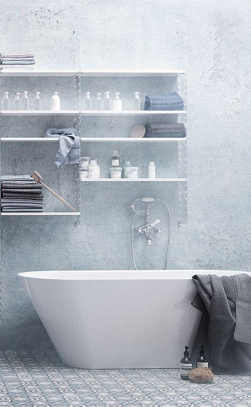 Love the shelving | Badkamer | Pinterest | Scandinavian bathroom ...