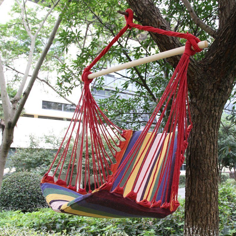 Adeco Hammock Chair Tree Hanging Suspended Outdoor Indoor   HA0068 2