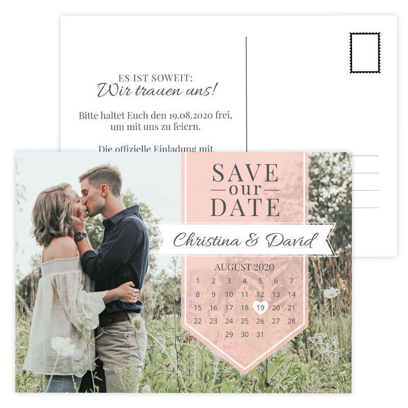 Save The Date Postkarte Mit Eurem Foto Hier Online Bestellen Safe The Date Hochzeit Postkarten Hochzeit Safe The Date Karten