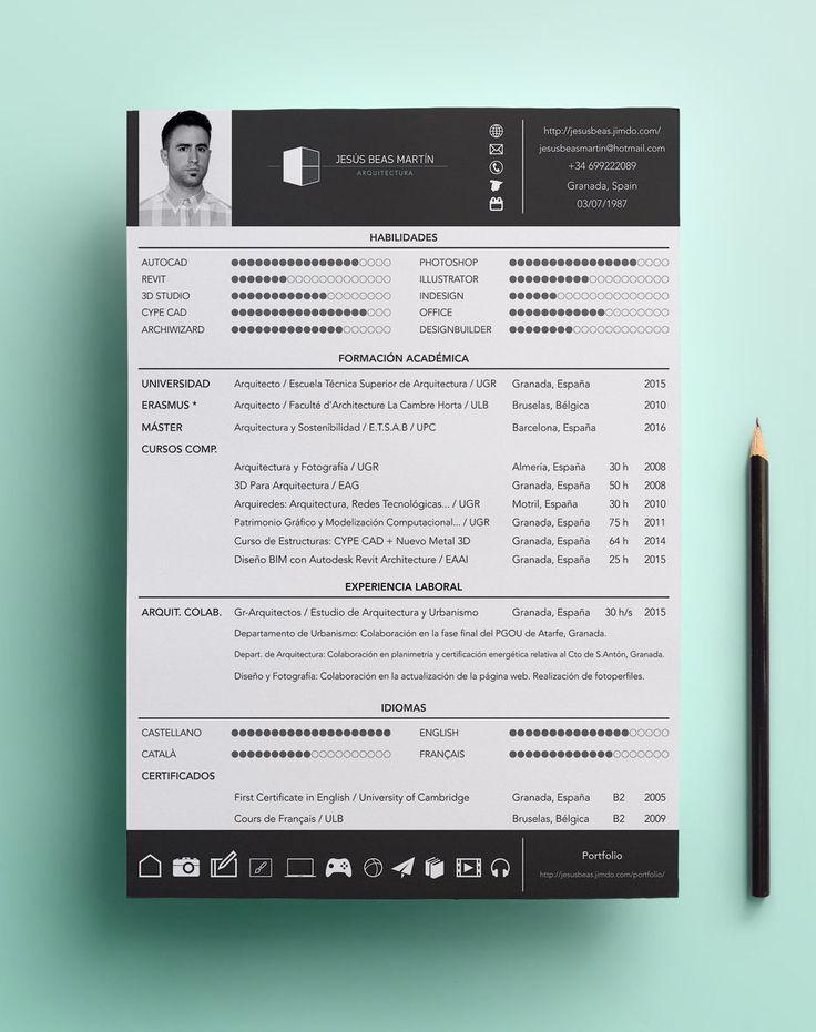 CV - Jesús Beas Martín \/ Arquitecto Resume Pinterest Cv - cold call resume cover letter