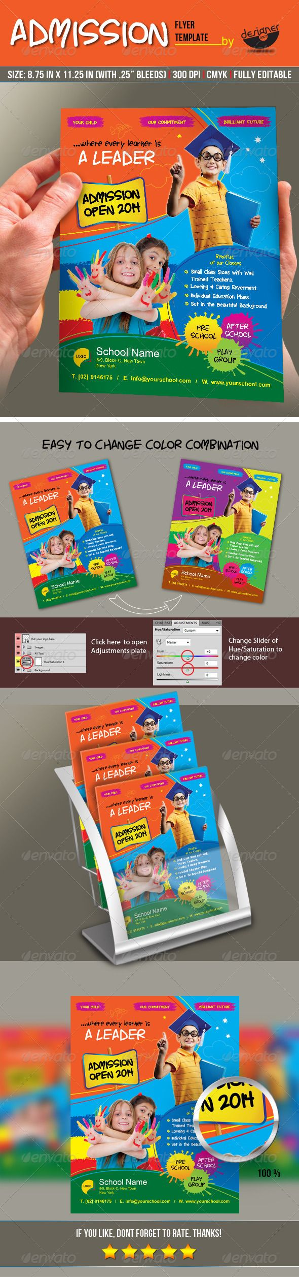 Junior School Admission Flyer Template  School Admissions Flyer