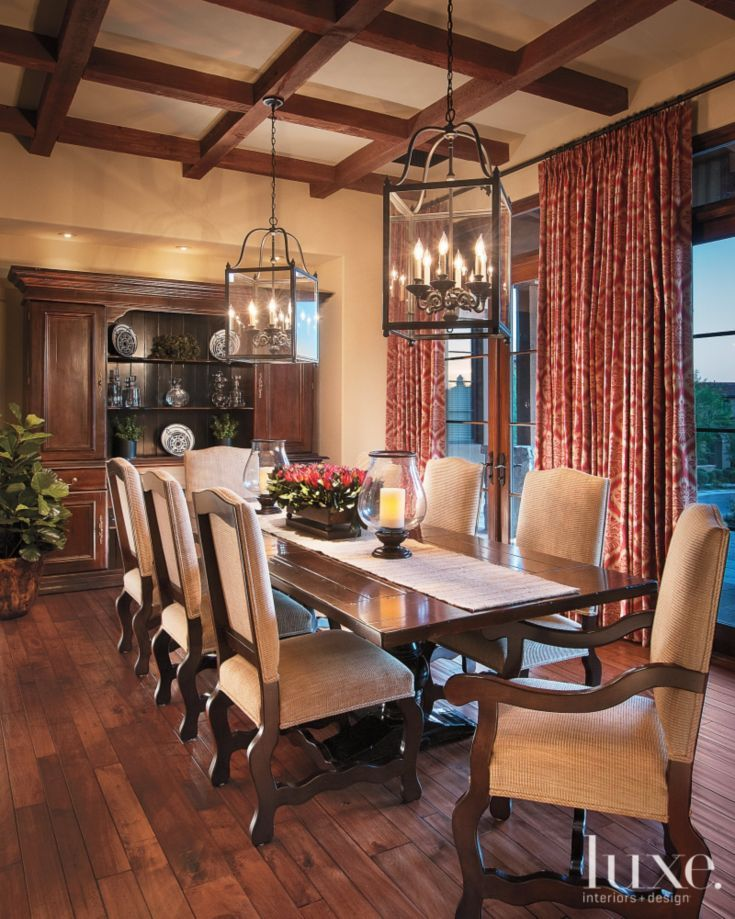 Brown And Tan Traditional Dining Room Dining Room Centerpiece