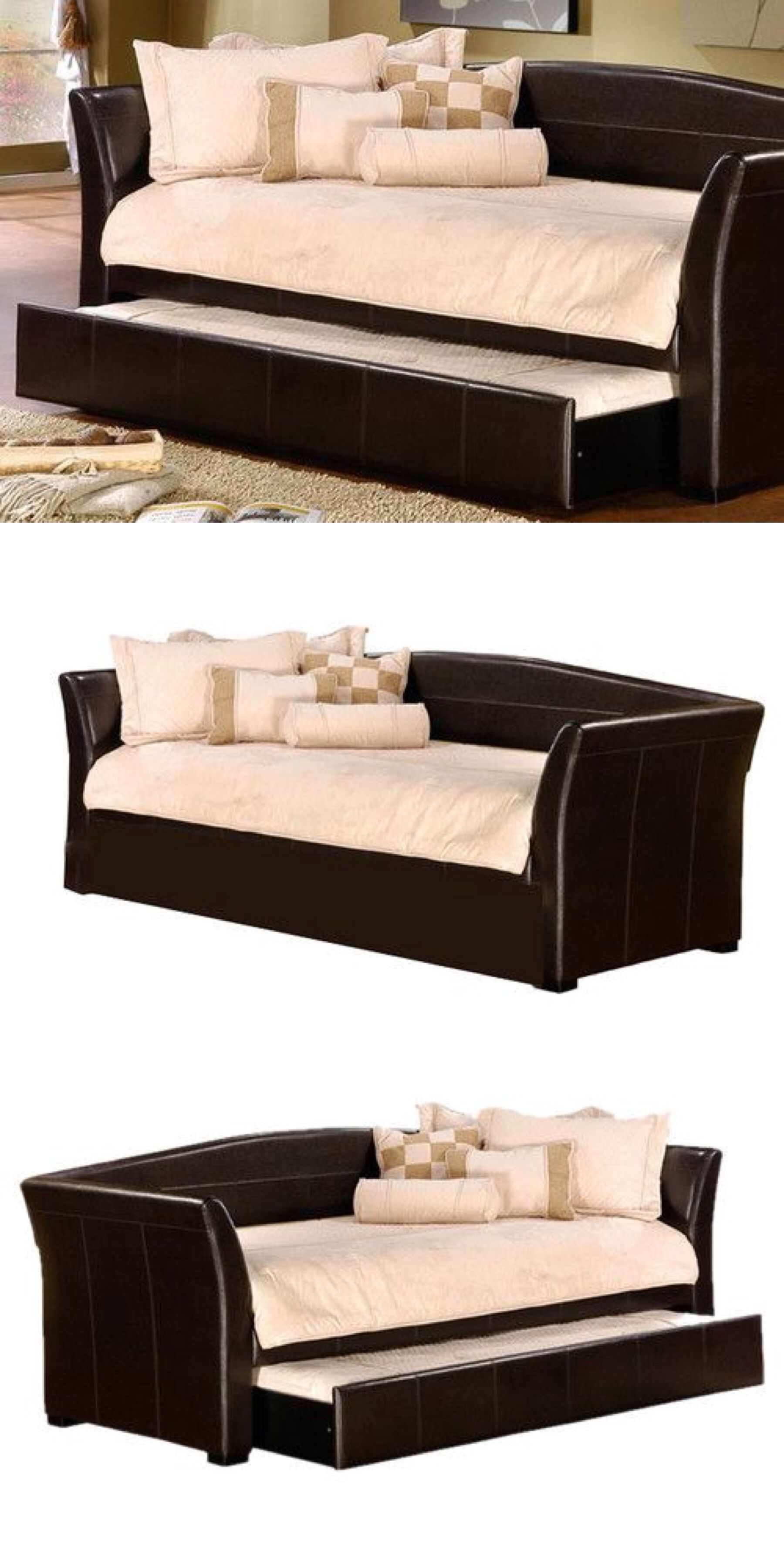 Day Bed Sofa With Pull-out Trundle Bed - Great Space Saving Idea | Furniture