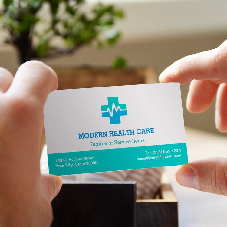 Medical Health Care - Modern Clean ECG logo Business Cards ...