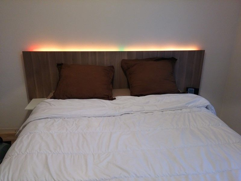 Add A Headboard Lights And Side Tables To Ikea Brimnes Bed