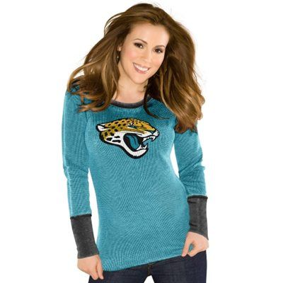 Touch by Alyssa Milano Jacksonville Jaguars Ladies Touch Quick Pass Long  Sleeve Thermal T-Shirt - Teal ccc57b1ca