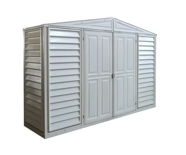 Saffron Vinyl 10x3 Shed Including Foundation Kit In 2020 Vinyl Sheds Outdoor Storage Solutions Shed