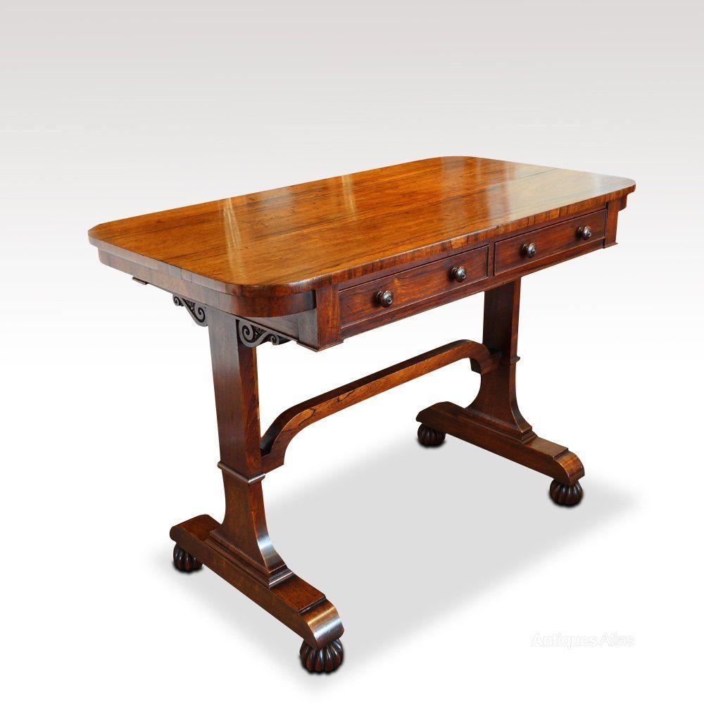 Antique Edwardian Mahogany Inlaid Desk Antiques Atlas Small