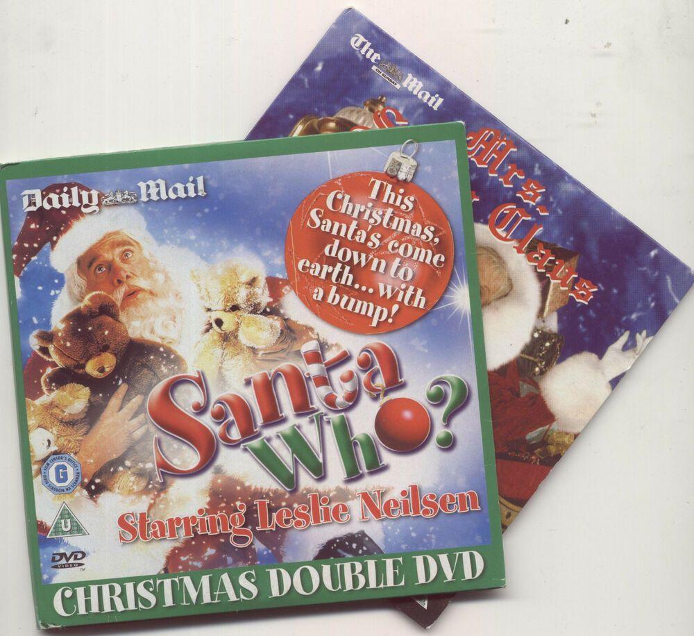 SANTA WHO? + MRS SANTA CLAUS 2 PROMO CHRISTMAS DVDs