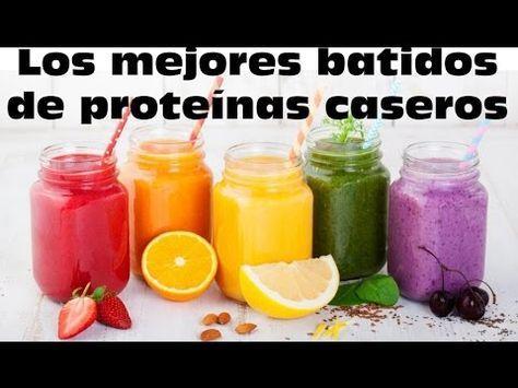 Batidos De Proteinas Caseros Para Aumentar Masa Muscular Y Sustituir Comidas Batido Proteinas Casero Batidos De Proteinas Naturales Comidas Para Entrenamiento